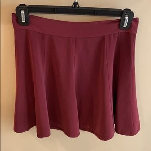 Brandy Melville Maroon Skirt One Size Fits All